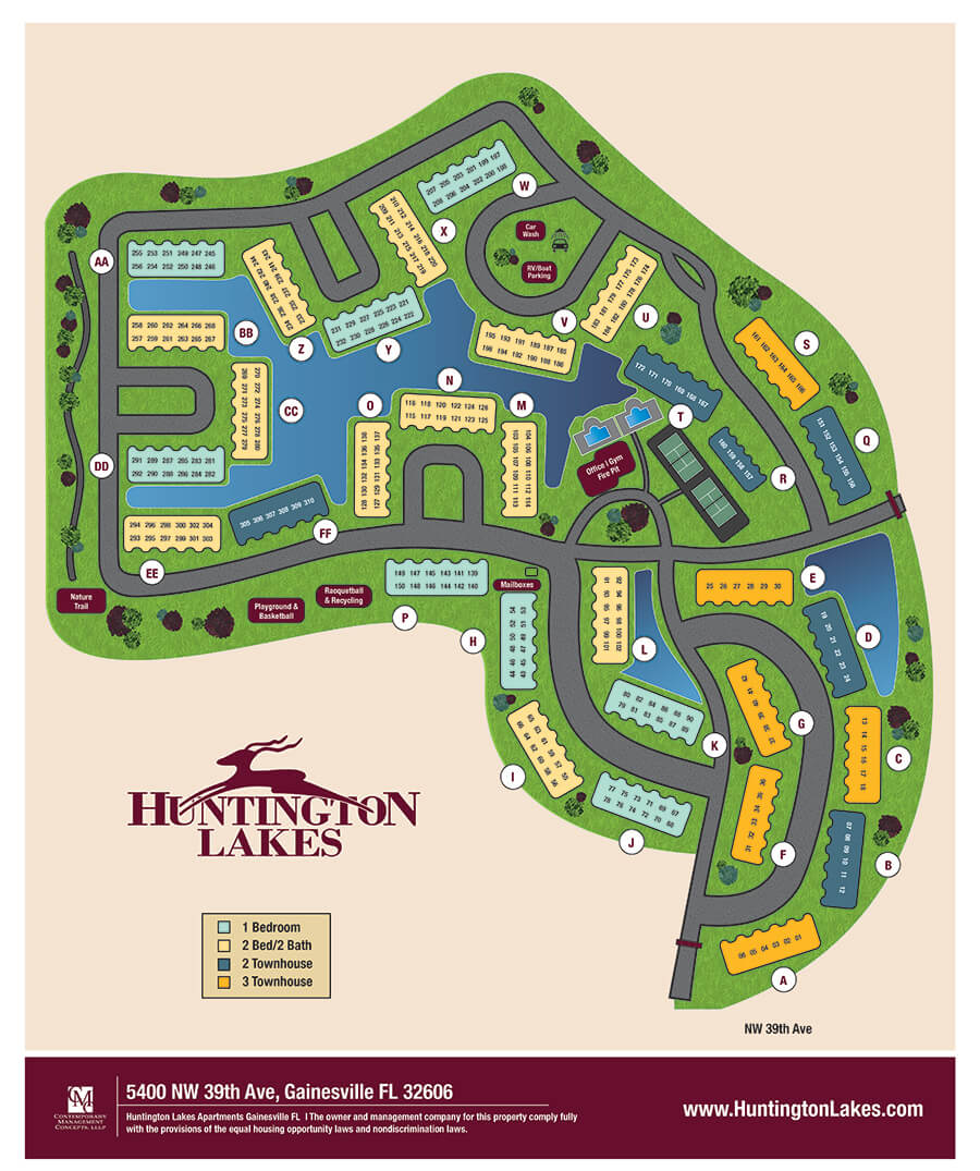 Huntington Lakes Sitemap